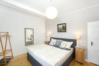 Das Schlafzimmer mit Boxspringbett