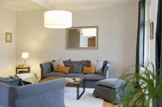 Die Sofagarnitur im Wohnzimmer.